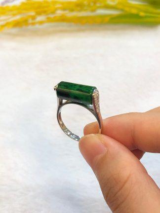 green jade barrel ring