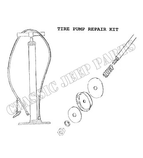 Hand tire pump repair kit