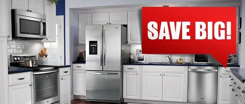 kitchen appliance store flat panel cabinets classic maytag home in specials