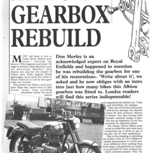 Albion Gearbox Rebuild