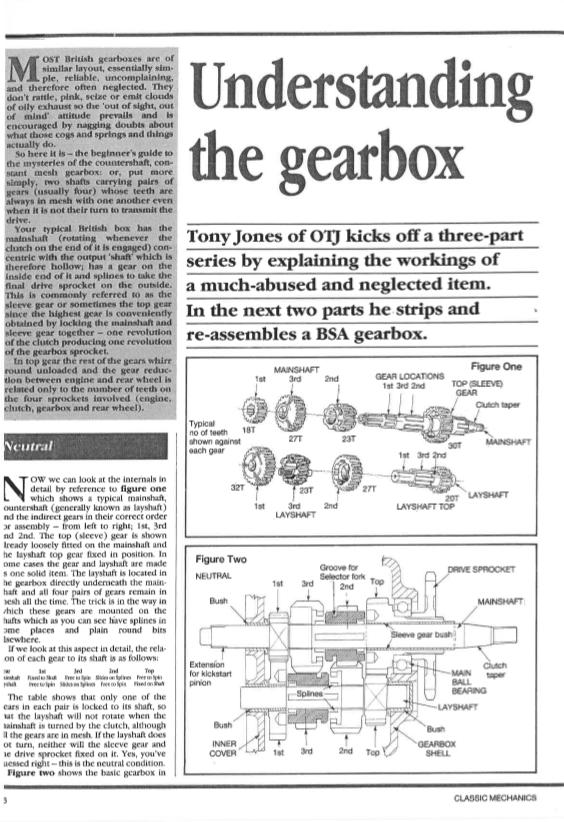 BSA Gearbox Stripdown