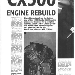 Honda CX500 Engine Rebuild 1997