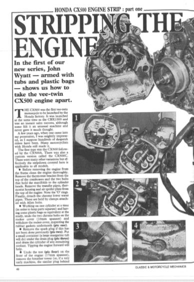 Honda CX500 Engine Rebuild