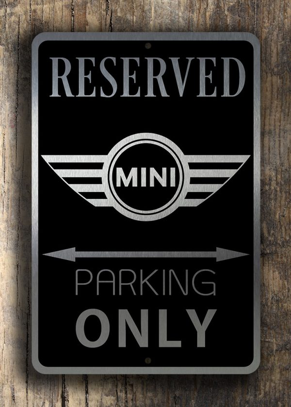 Mini Cooper Signs Mini Parking Signs Garage Decor