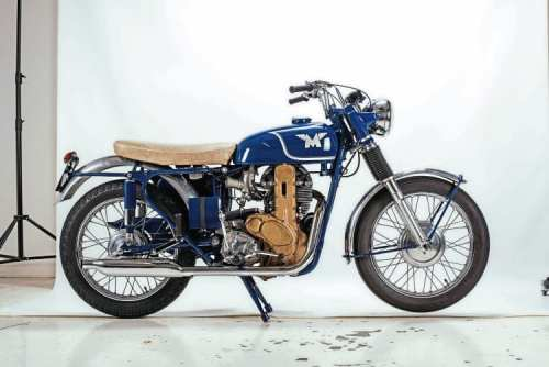 The National Motorcycle Museum's Matchless G50CSR, positioned in Mortons' studio.