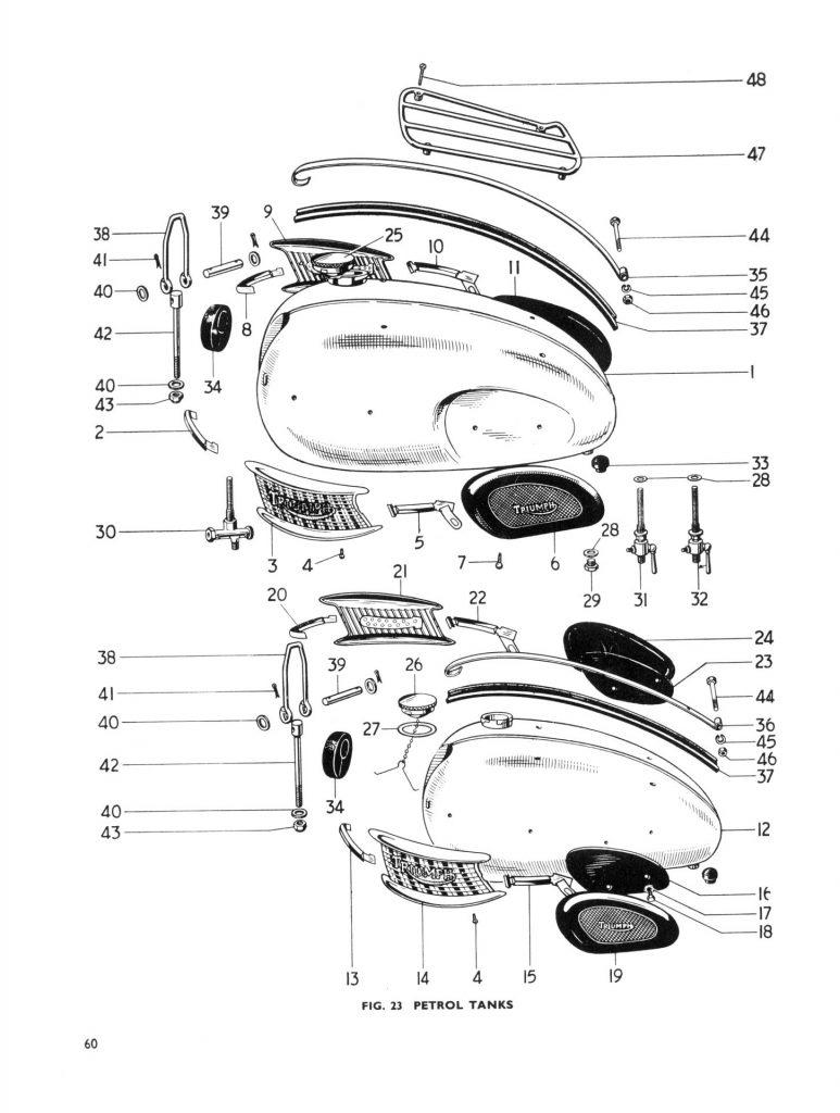 Triumph 650 Parts Book T120 Bonneville T110 Tiger 6T