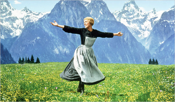 The Sound of Music starring Julie Andrews, music by Rodgers and Hammerstein, directed by Robert Wise