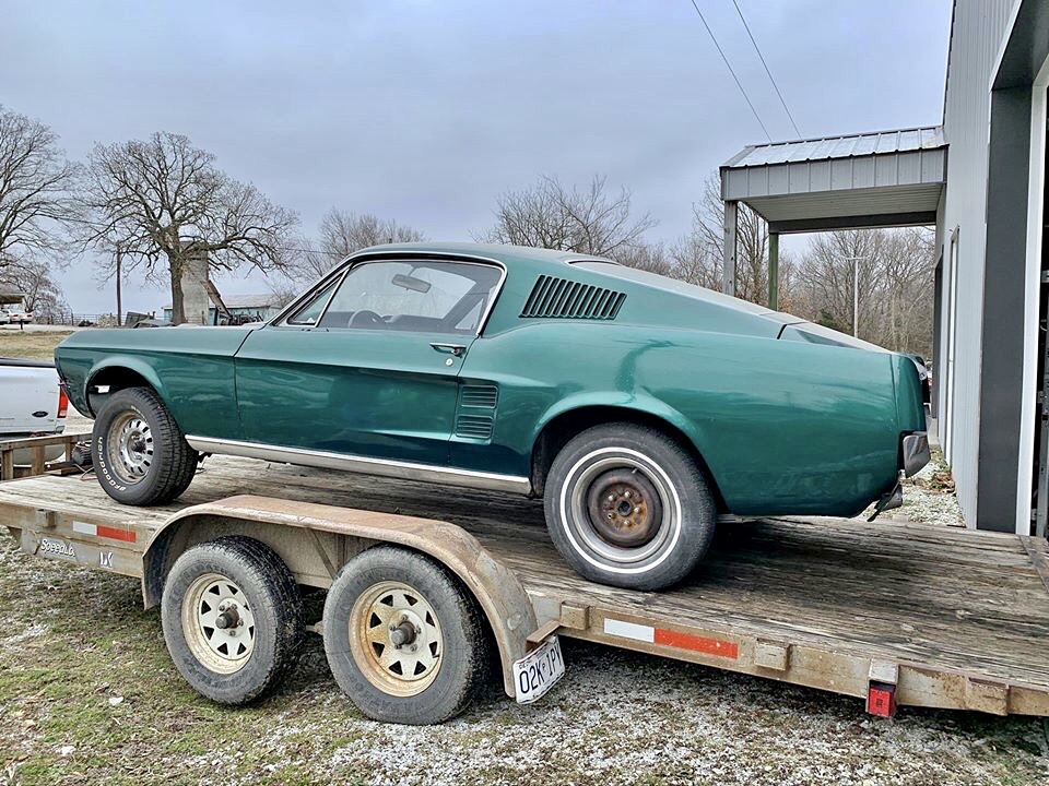 It's a long time massachusetts car and there's rust in the floors. New Project 1967 Mustang Fastback