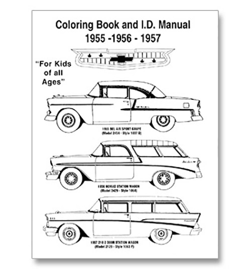 Coloring Book & ID Manual-Classic Chevy Truck Parts