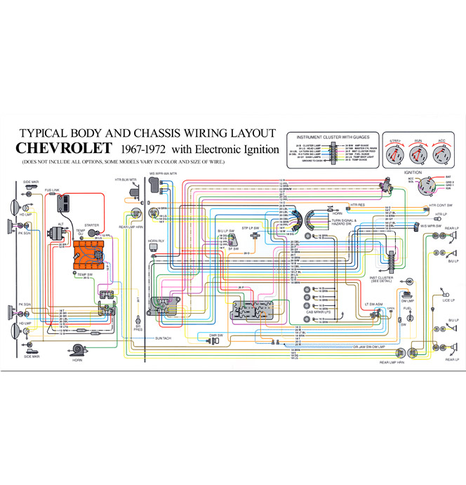 Full Color Wiring Diagram HEI Classic Chevy Truck Parts
