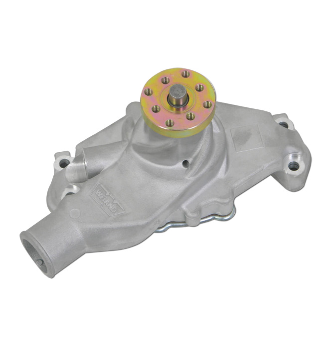 hight resolution of  1955 72 weiand action plus water pump sbc short satin