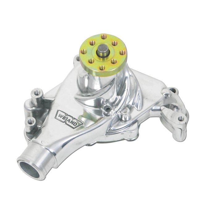 medium resolution of  1969 76 weiand action plus water pump sbc long polished