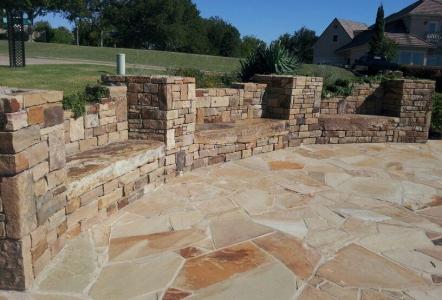 flagstone classic rock stone yard