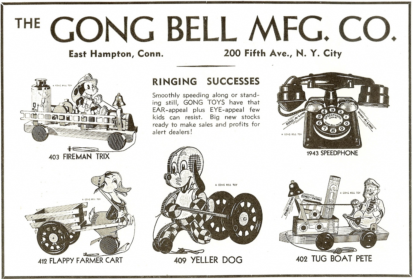 hight resolution of 1937 gong bell advertisement