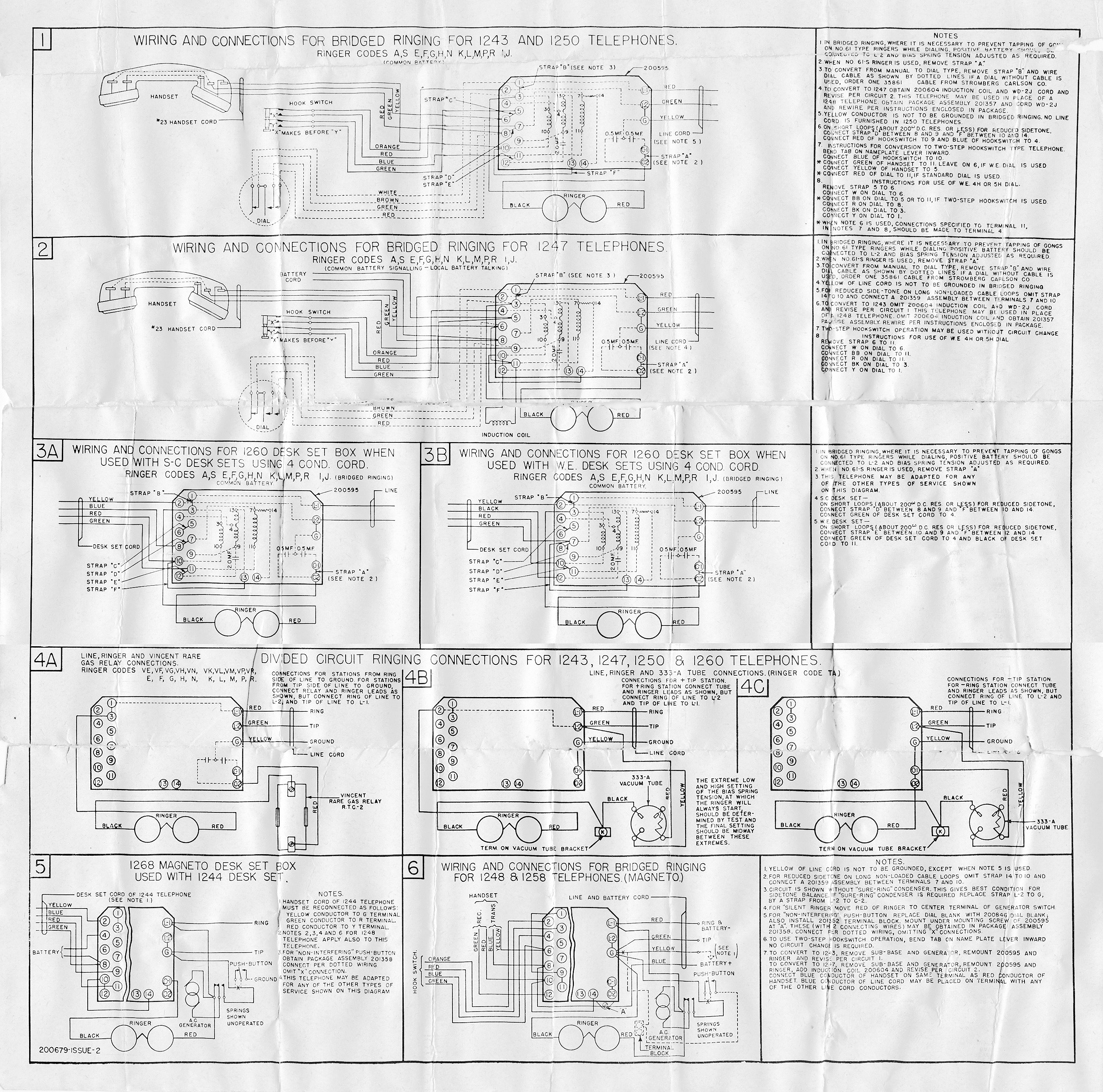 home telephone wiring diagram 240v single phase motor classicrotaryphones diagrams