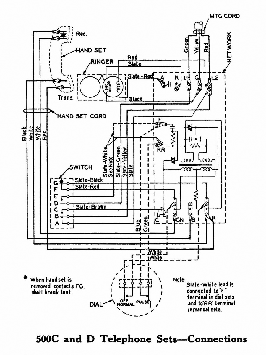 telephone handset wiring diagram 8n 12 volt conversion tci library - downloads | 500-series western electric diagrams & technical