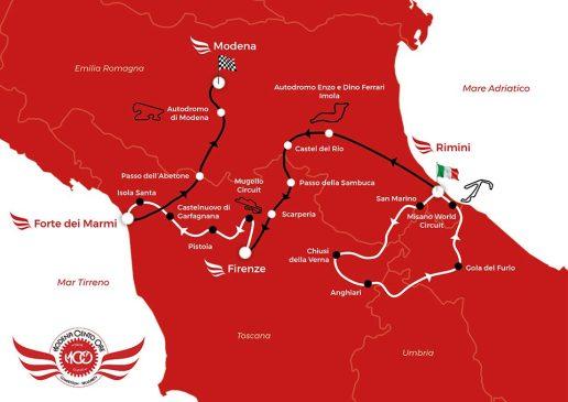 Streckenverlauf Modena Cento Ore 2021