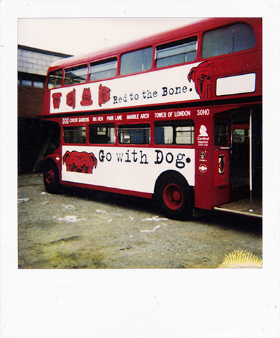 Red Dog Beer Miller Brewing Co. double decker bus