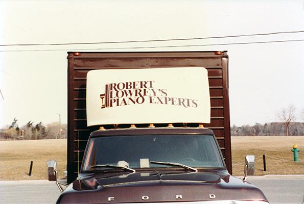 Robert Lowrey Piano Experts Truck Hand Painted