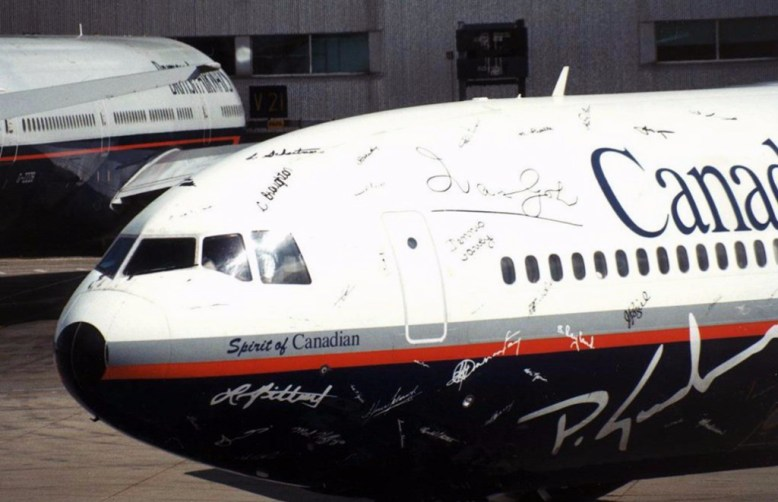 Canadian Airlines Vinyl Signature Plane