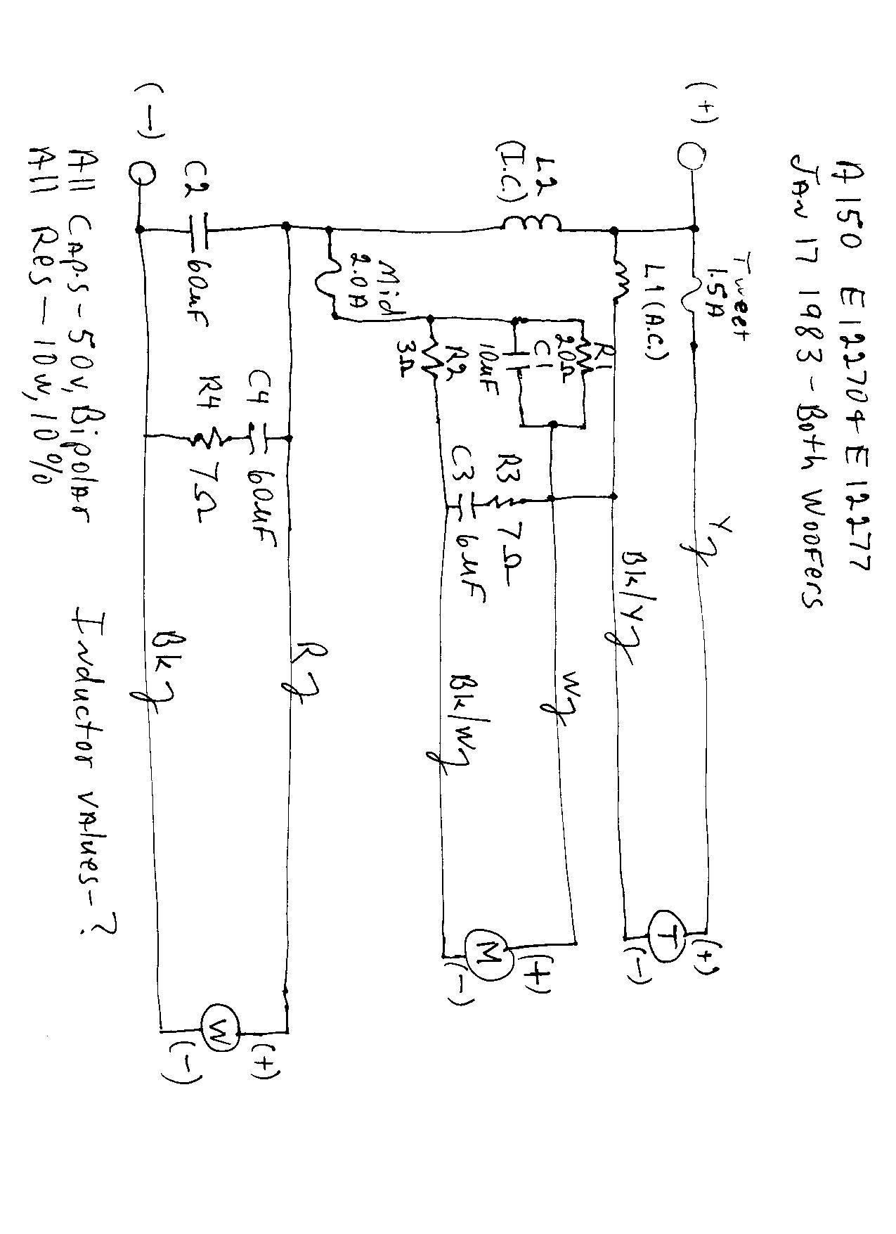 c3 wiring diagram guitar generator boston a-150 repair - acoustics the classic speaker pages discussion forums