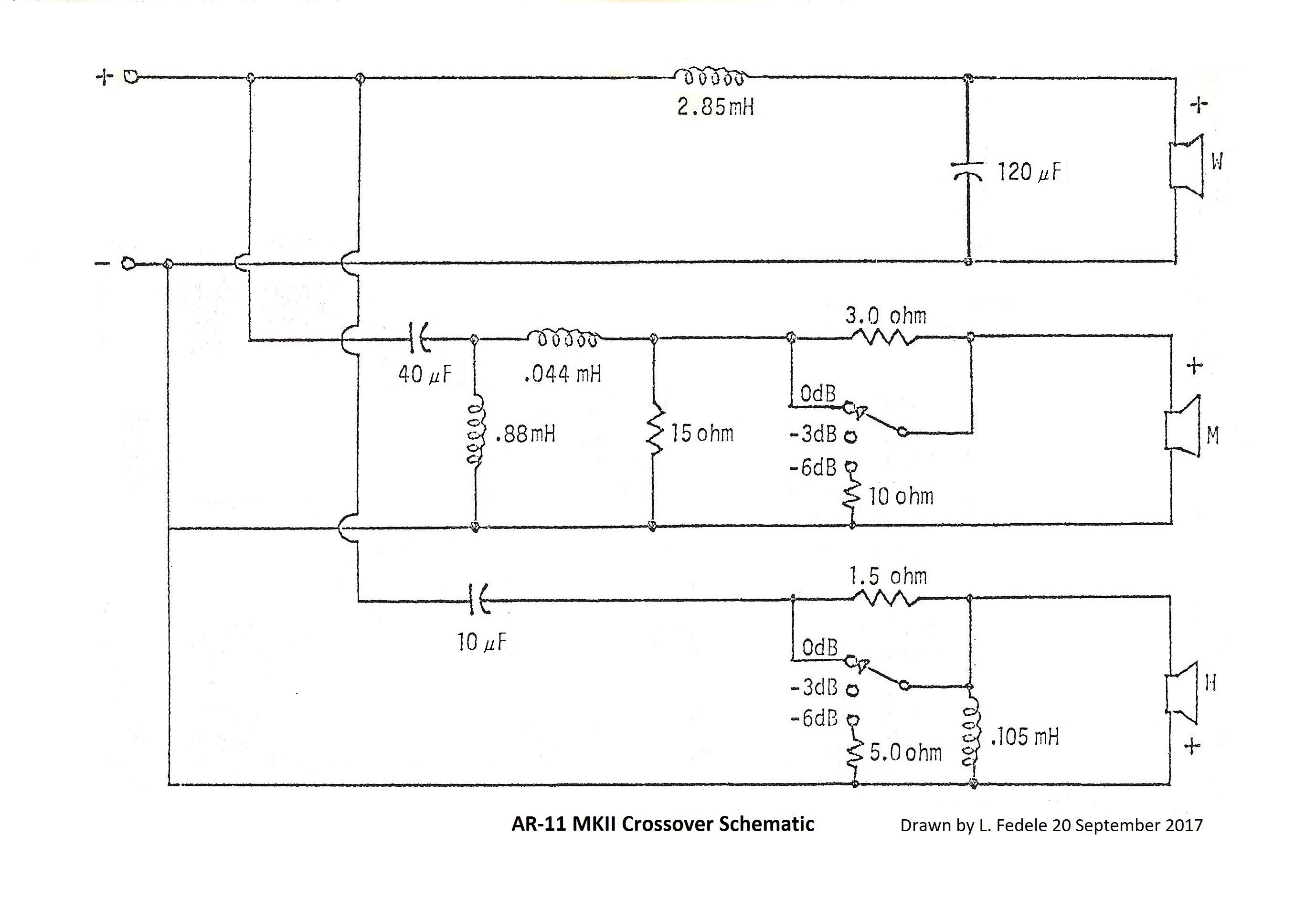 crossover wiring diagram speaker polaris ranger ar 11 acoustic research the classic