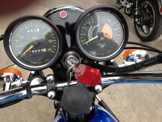 1972 Kawasaki H2 Dash Blue