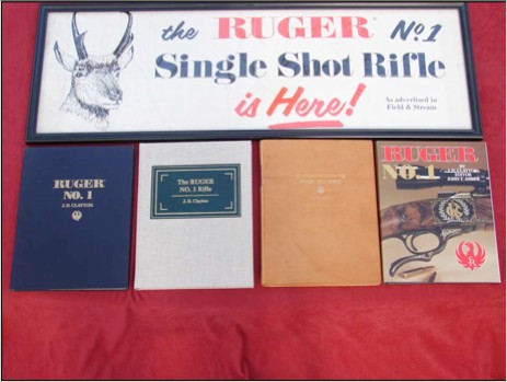 5 Editions of the Ruger No. 1 Book