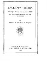 Excerpta Biblica