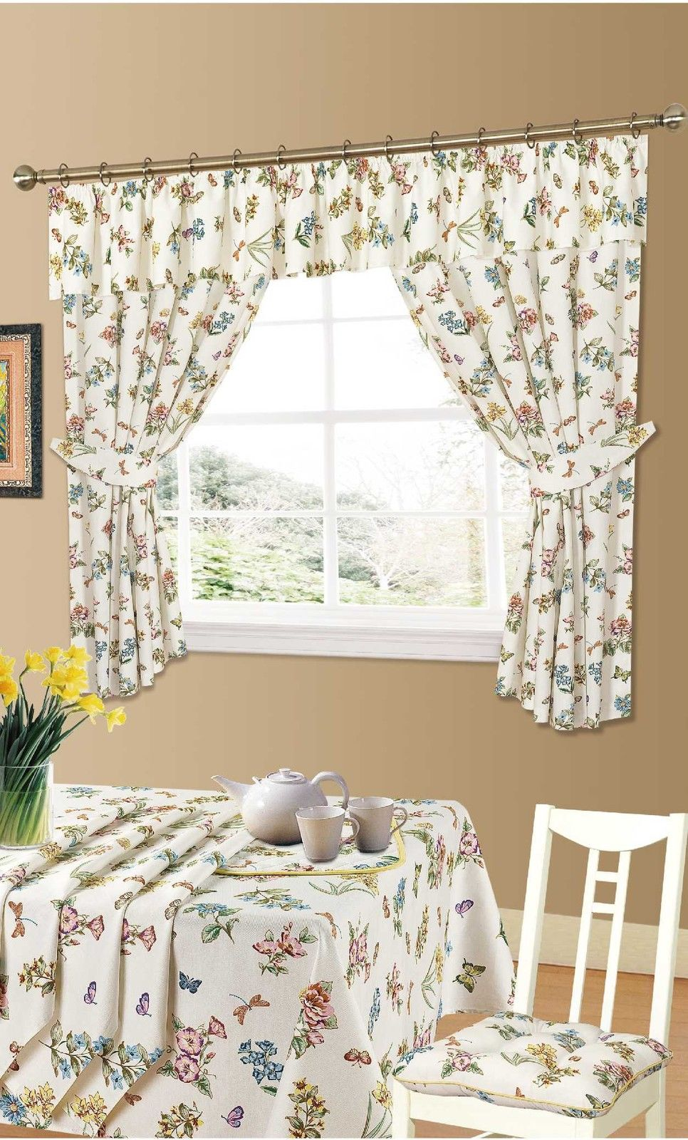 Butterfly Kitchen Curtains from Century Textiles