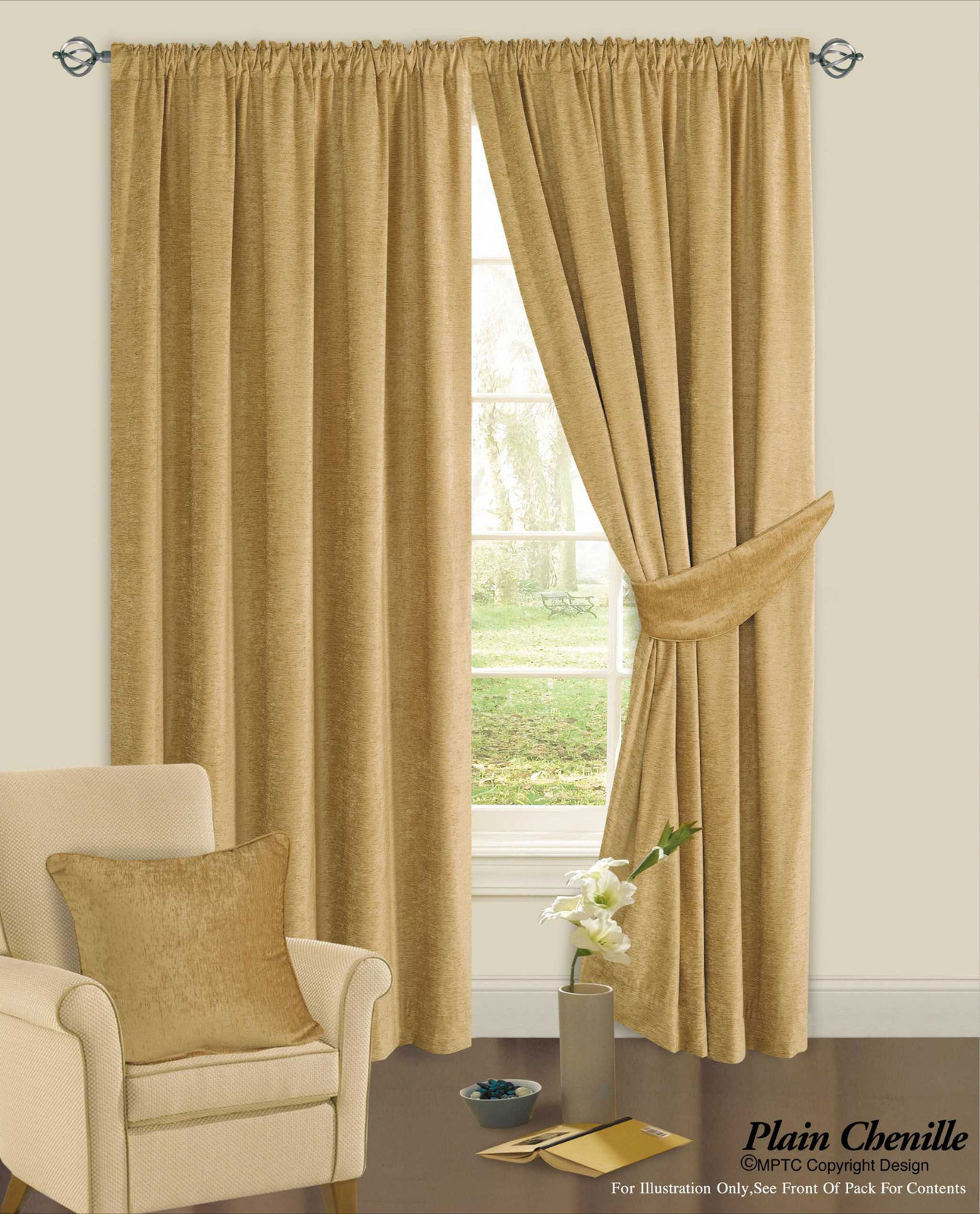 Luxury Chenille Ready Made Curtains from Century Textiles