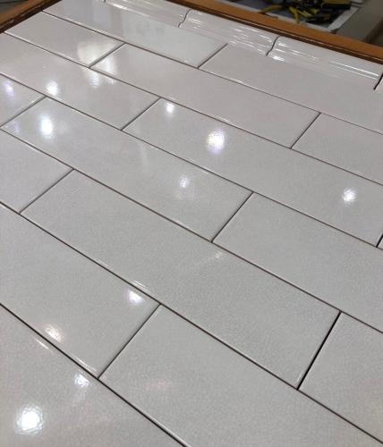 crackle look ceramic subway tile