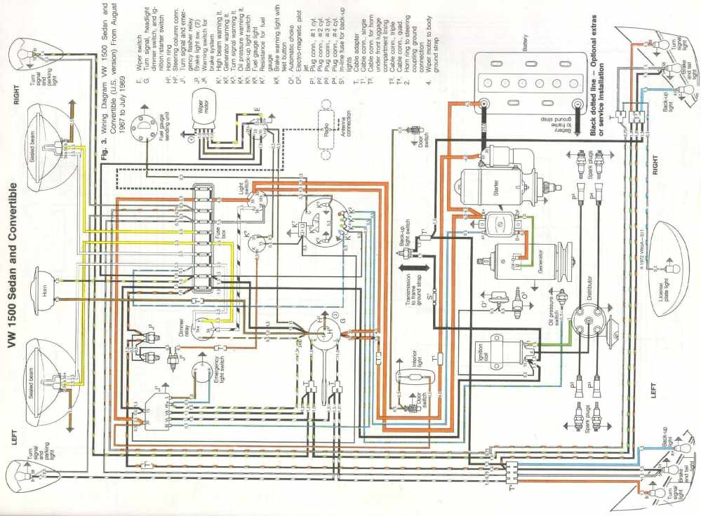 medium resolution of need a wiring diagram for a 1500 volkswagen sedan and convertible u s version august 1967 to july 1969