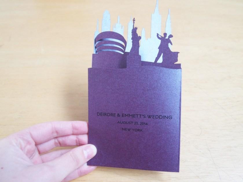 Destination Wedding Invitations New York Landscape