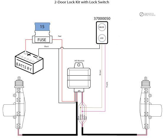 2 wire door lock actuator wiring diagram