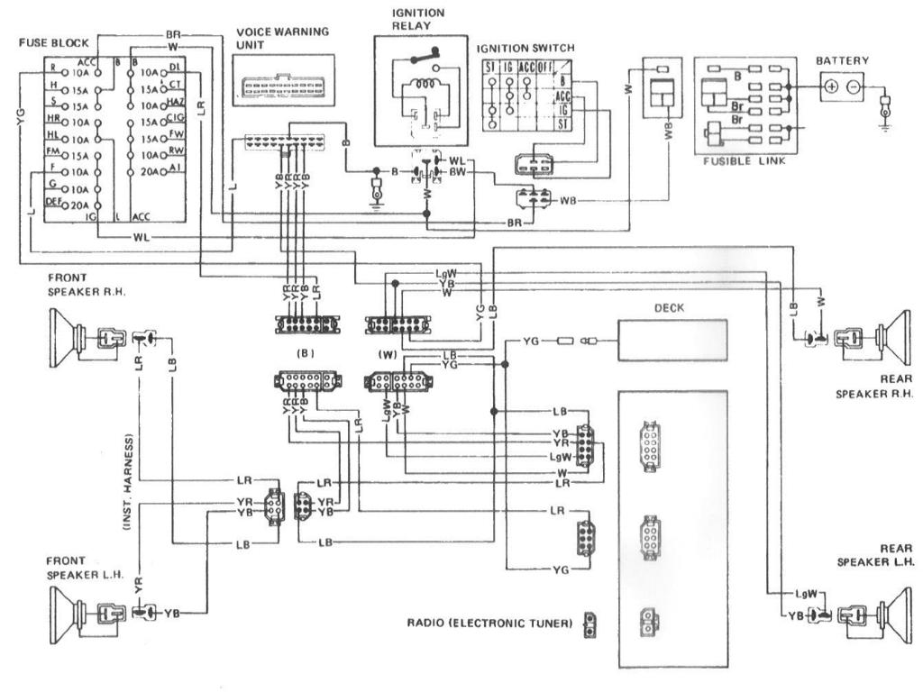 280zx Audio Diagram