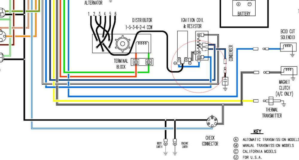 medium resolution of 1977 datsun 280z wiring diagram