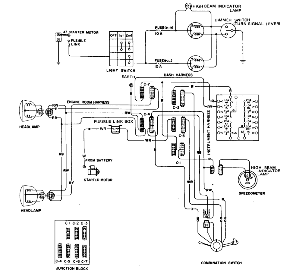 1976 Datsun 280z Wiring Diagram 240Z Wiring-Diagram