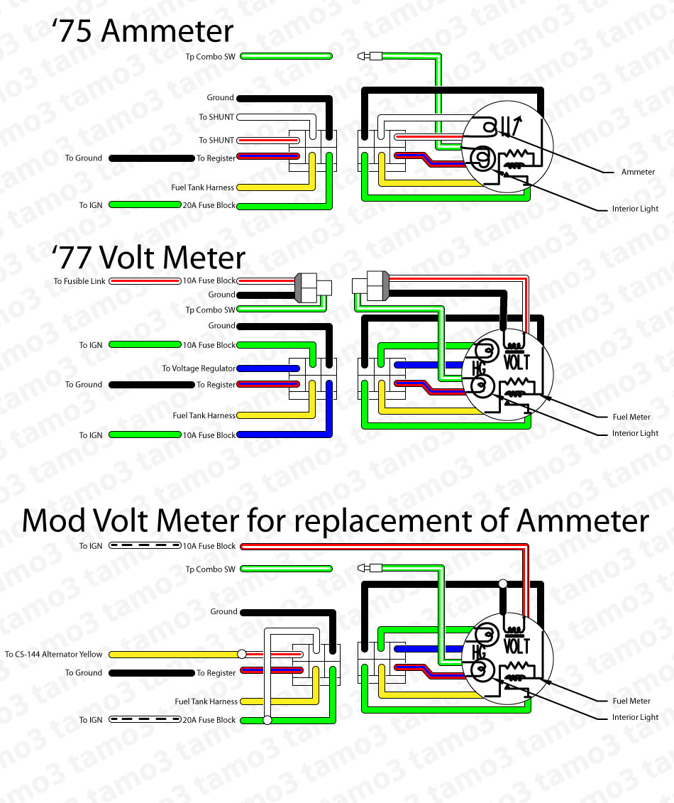 hight resolution of ammeter voltmeter swap project electrical the classic