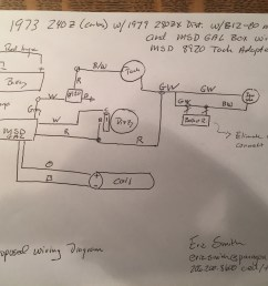 help 280zx e12 80 and msd 6al to a 240z electrical the classic msd wiring diagram 280zx [ 3264 x 2448 Pixel ]