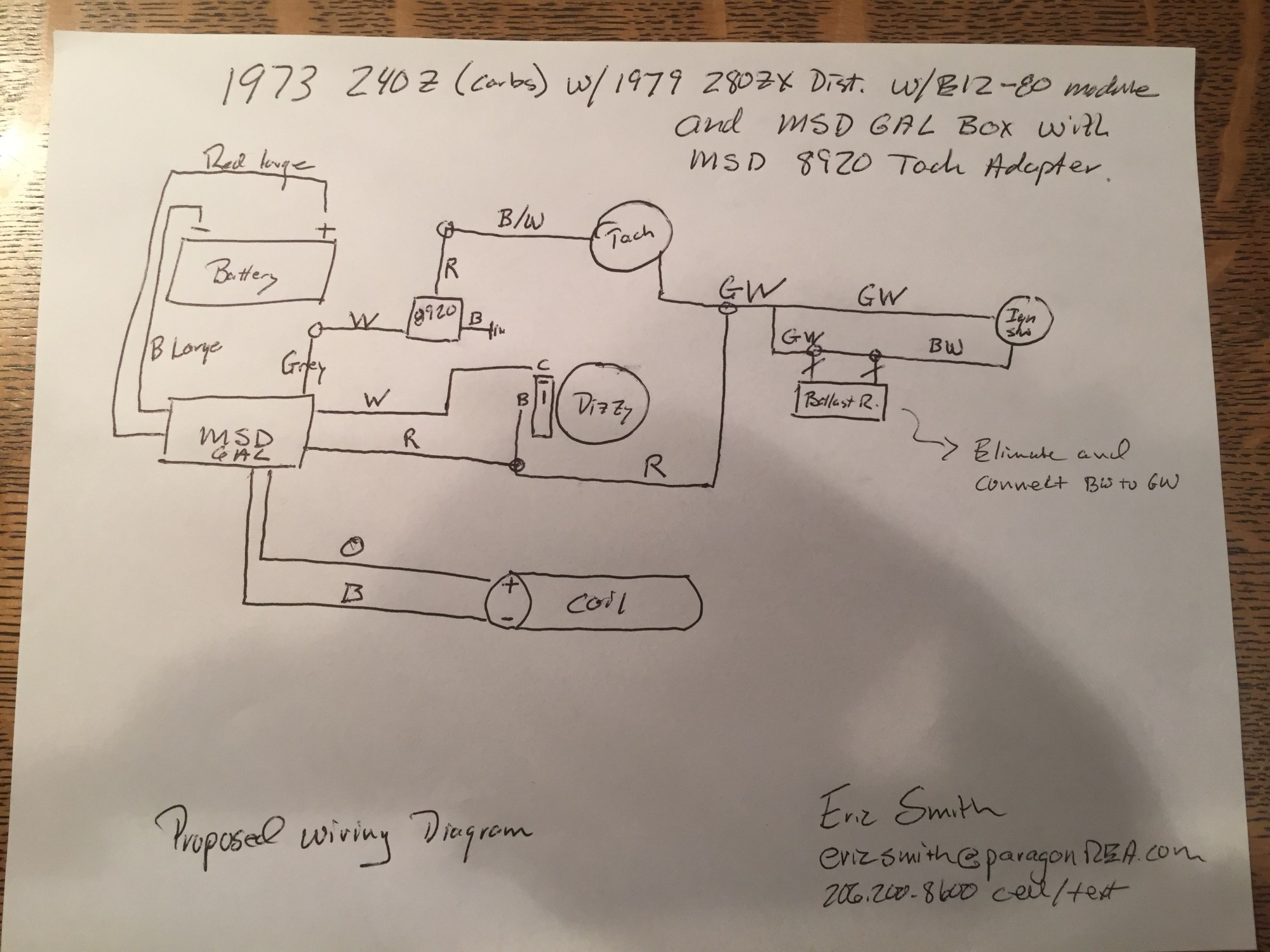hight resolution of help 280zx e12 80 and msd 6al to a 240z electrical the classic 240z firing order 240z tach wiring diagram
