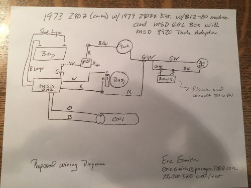 small resolution of help 280zx e12 80 and msd 6al to a 240z electrical the classic 240z firing order 240z tach wiring diagram