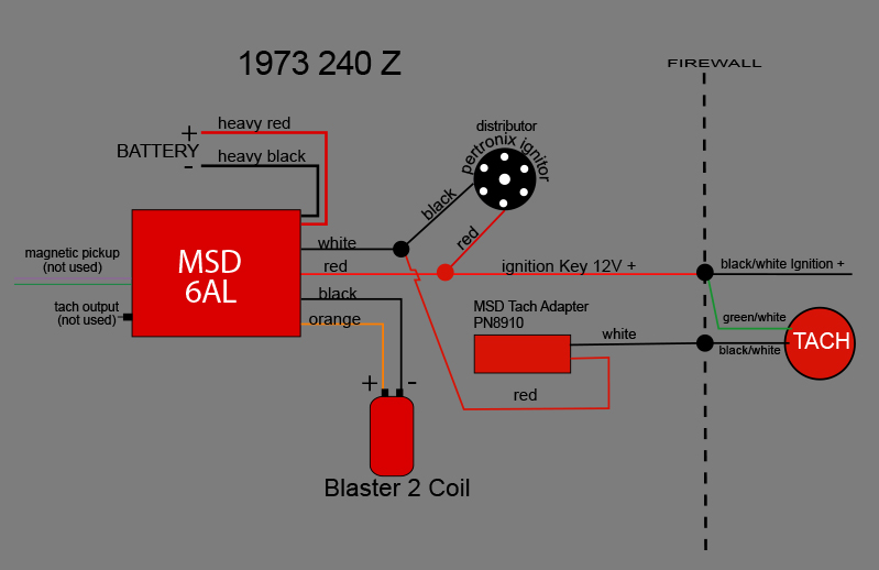 6al msd ignition wiring diagram standard trailer crane hi-6s + pertronix tach adapter? - electrical the classic zcar club