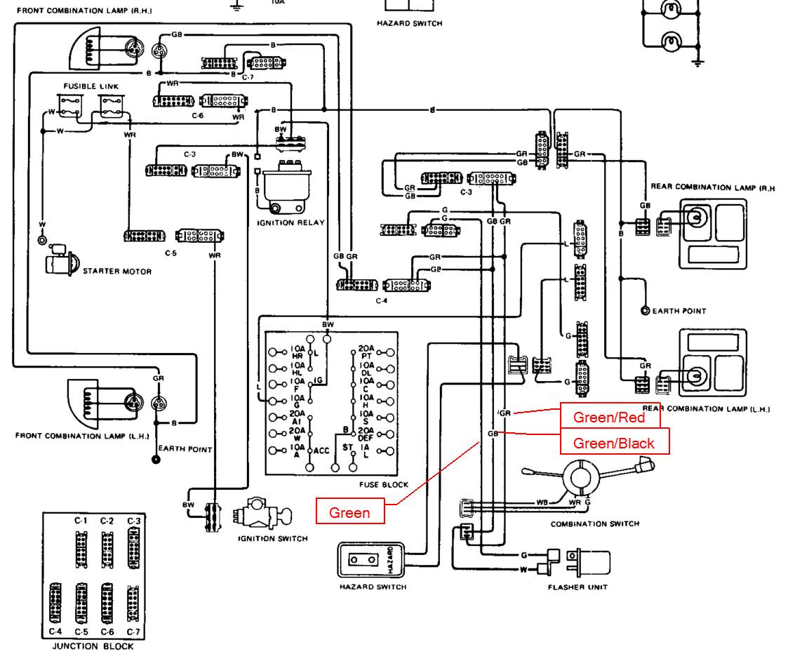 hight resolution of wiring diagram for 1976 datsun 280z at turn signal new gauges plz