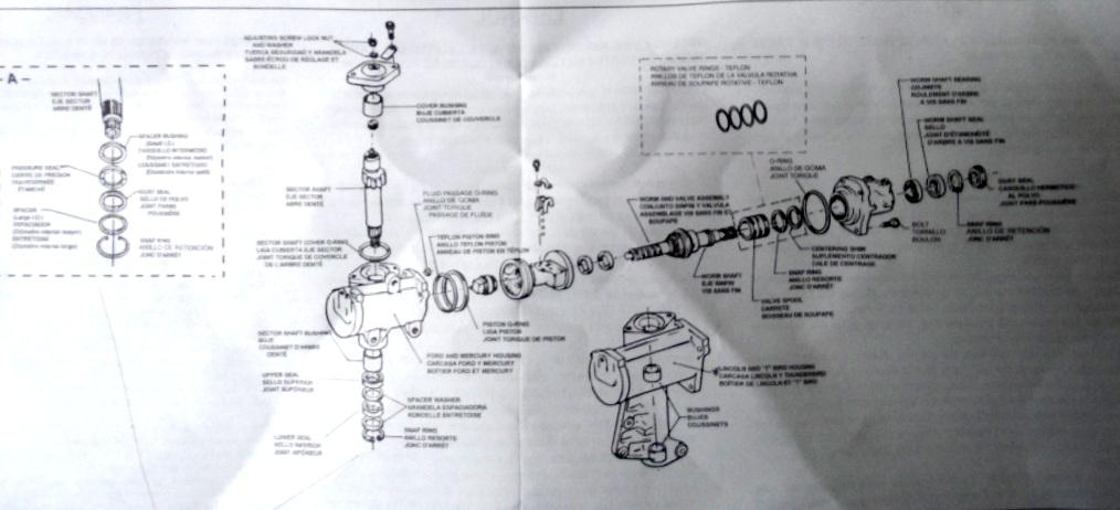 1967 Ford Thunderbird Steering Column Diagram