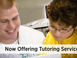 Now Offering Tutoring Services