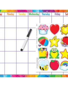 Calendar wall chart monthly daily kit with images and pen also rh classroomcapers