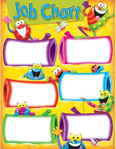 Children   wall charts job chart also kids posters and wipe off fun frog for home rh classroomcapers