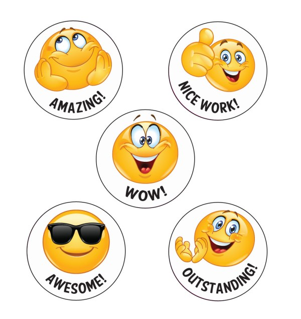 school stickers wow emoji reward