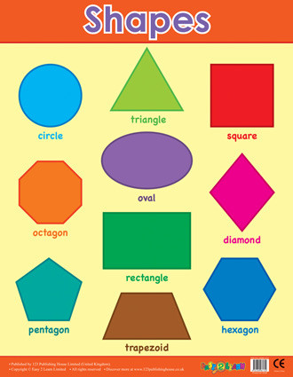 basic shapes maths posters